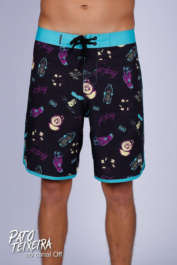 BERMUDA BOARDSHORT FOR THE SEA COLLAB PETTERSON TOMAZ PERFORMANCE