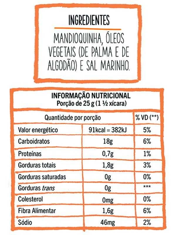 Chips Assado Mandioquinha