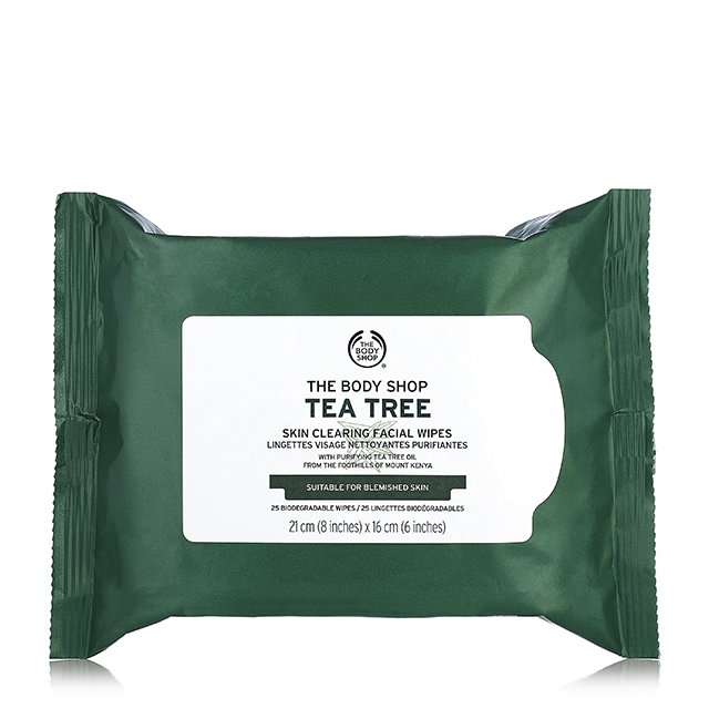 Lenços de limpeza facial e demaquilante Tea Tree