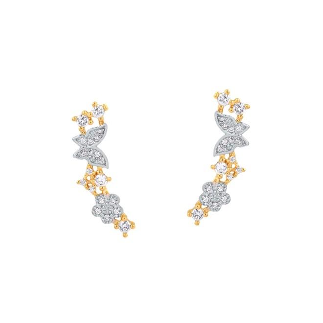 Brinco Ear Cuff Delicato Cravejado Folheado a Ouro 18k - New Bijoux f8d1071e2e
