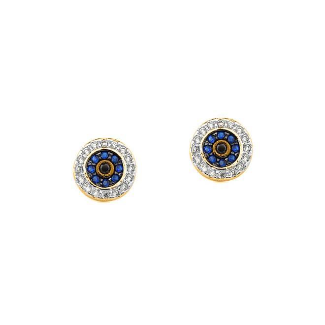 Brinco Olho Grego Cravejado de Zircônias Folheado a Ouro 18k - New ... bde0f91f6f