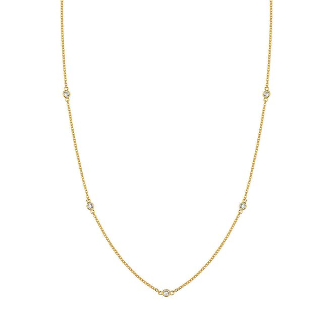 Colar Corrente Portuguesa Pontos de Luz de Zircônia em Ouro 18k New Gold ee53730df6