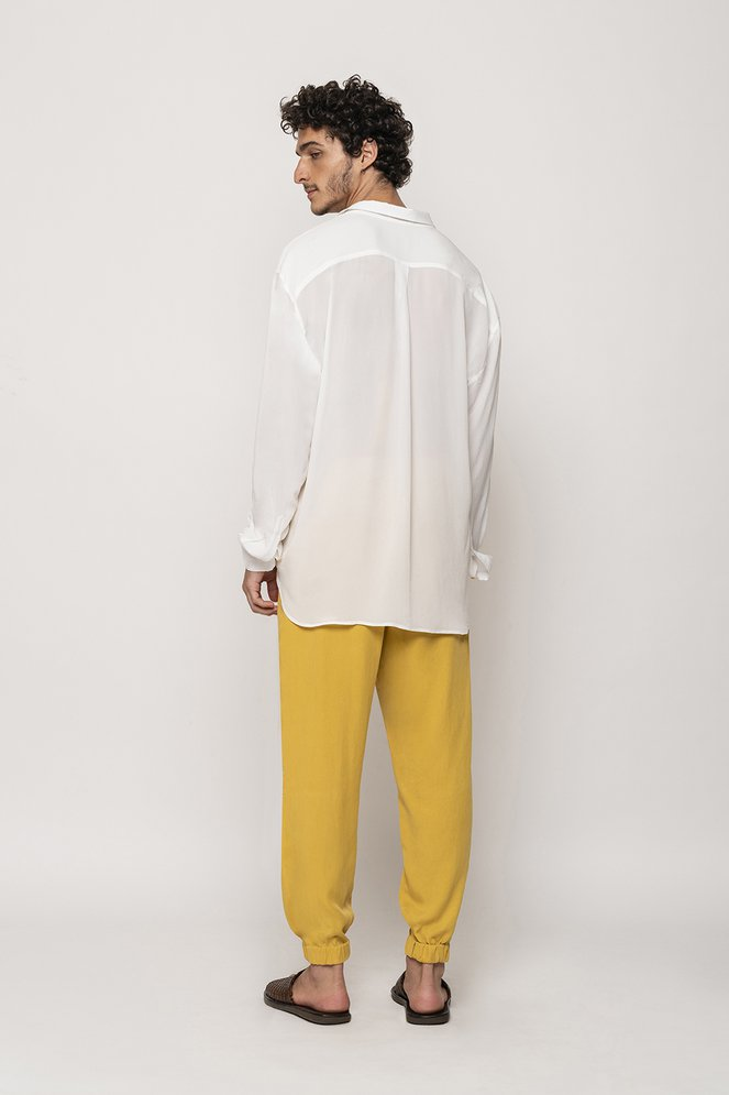 Camisa Oversized Seda Off