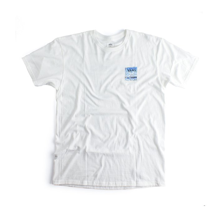 CAMISETA VANS CLASSIC AVE CHROME SS WHITE