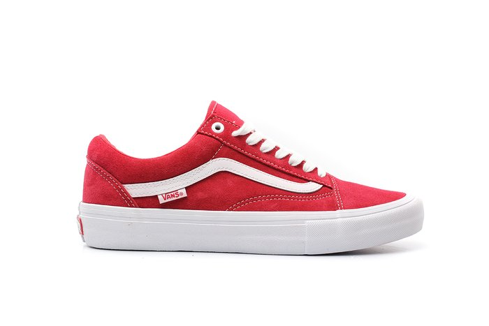 TÊNIS VANS OLD SKOOL PRO (SUEDE) RED/WHITE