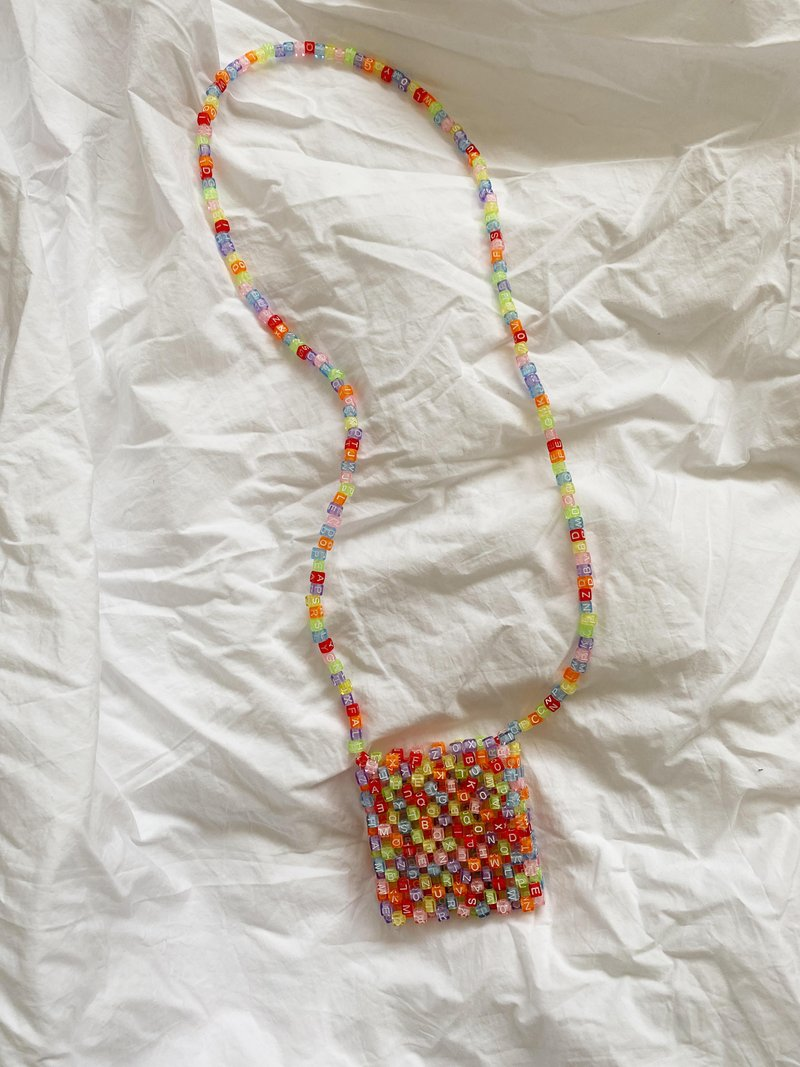 Micro SRI Beaded Bag Light Letters