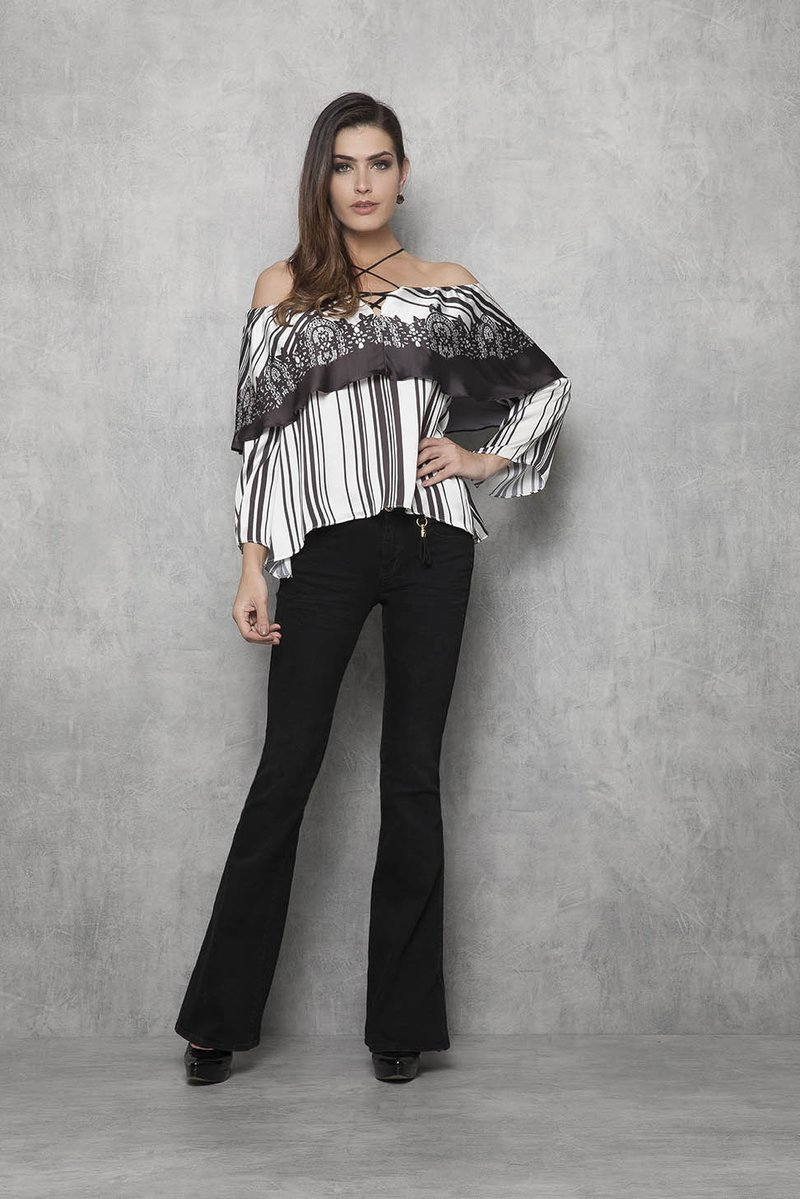 Blusa Stripe Black and White