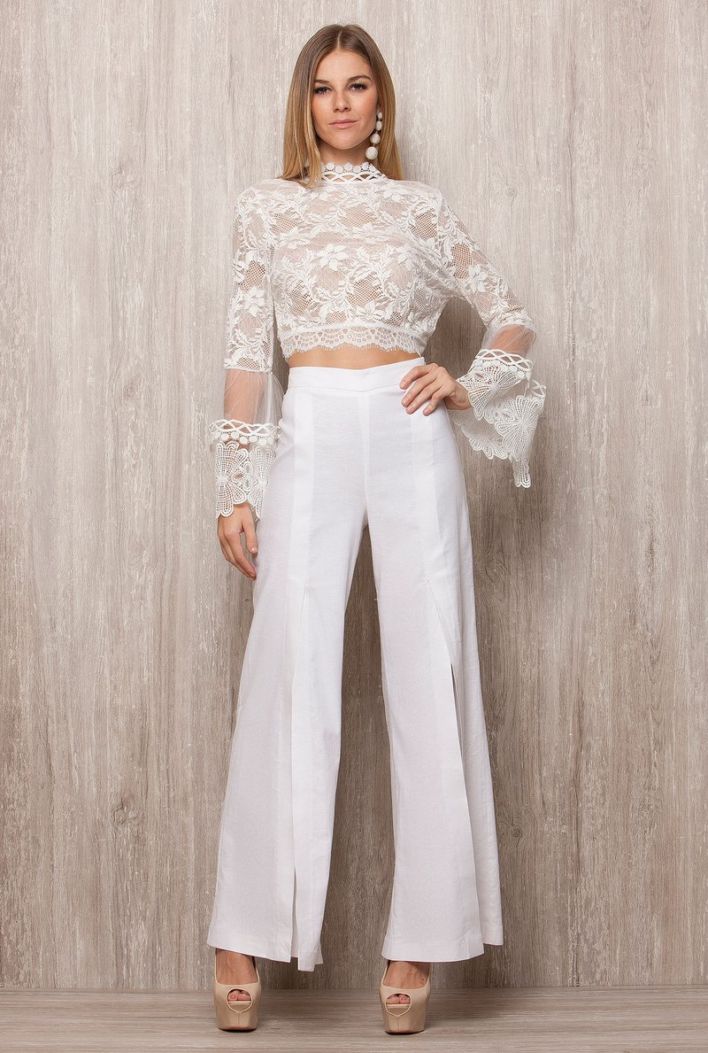 Cropped Renda White