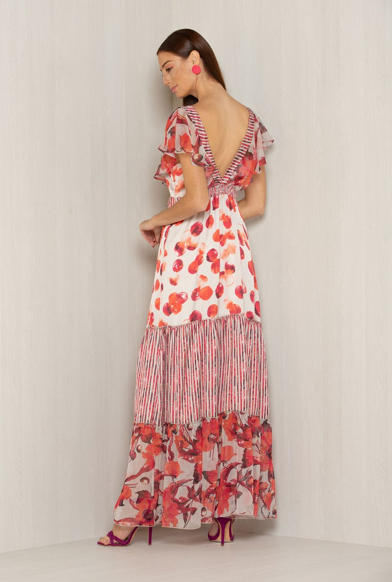 Vestido Maxxi Flowers & Stripes