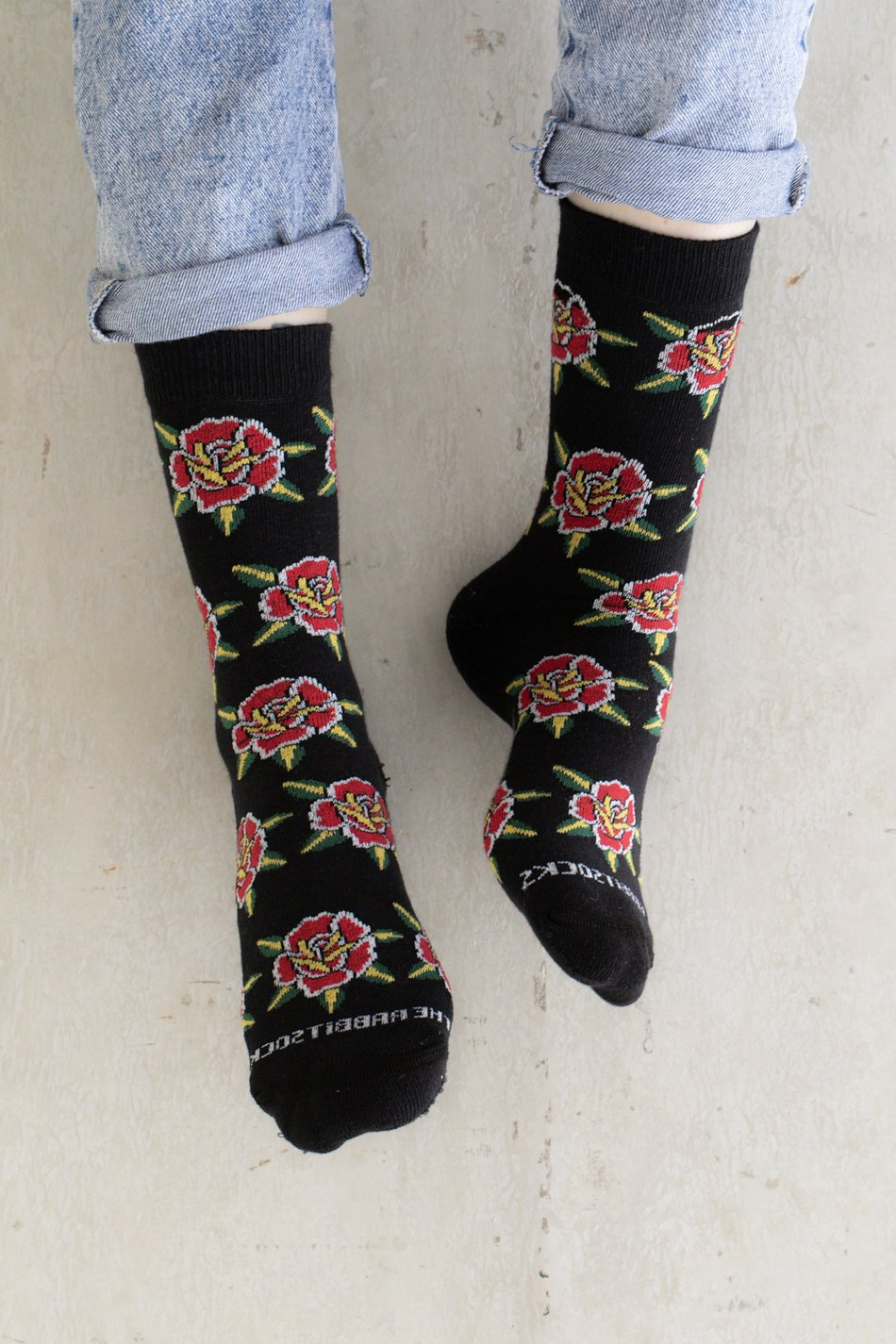 MEIA FLORAL OLD - THE RABBIT SOCKS