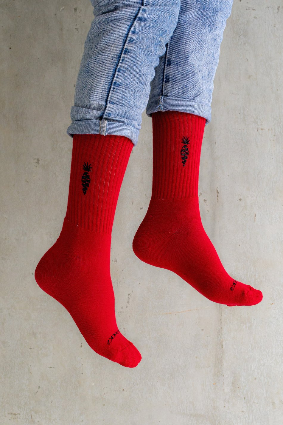 MEIA VERMELHA - THE RABBIT SOCKS