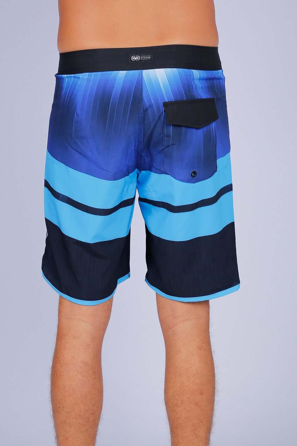 BERMUDA BOARDSHORT OCEANO DUO LISTRAS PERFORMANCE STRETCH