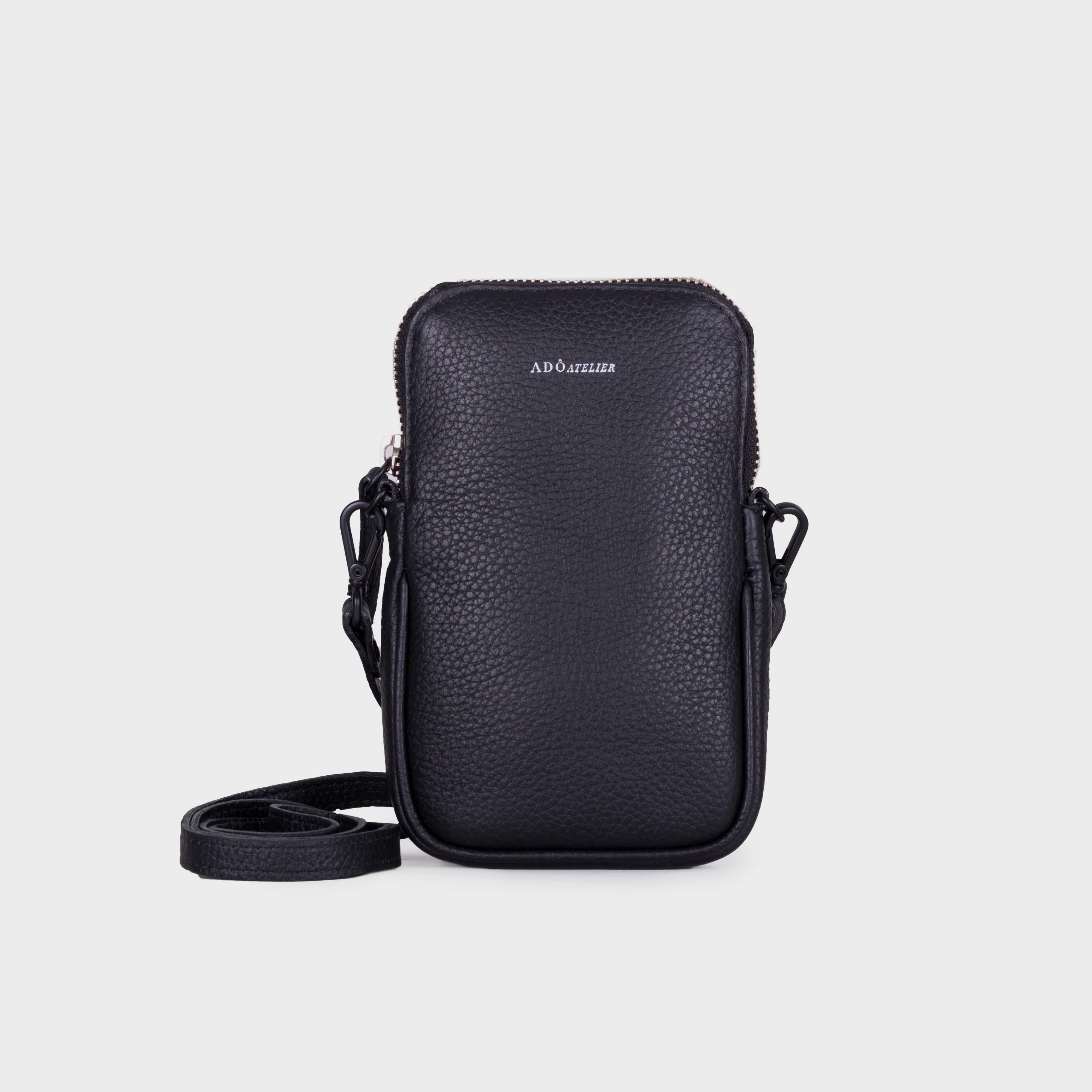 Mini Bag de Couro Preto - Adô Atelier