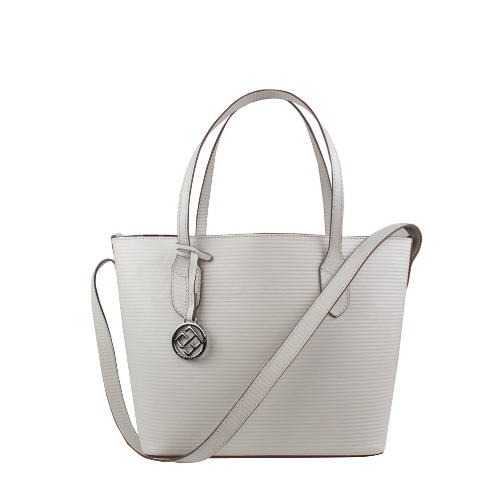 Bolsa Cristofoli Shopping Bag Off-White