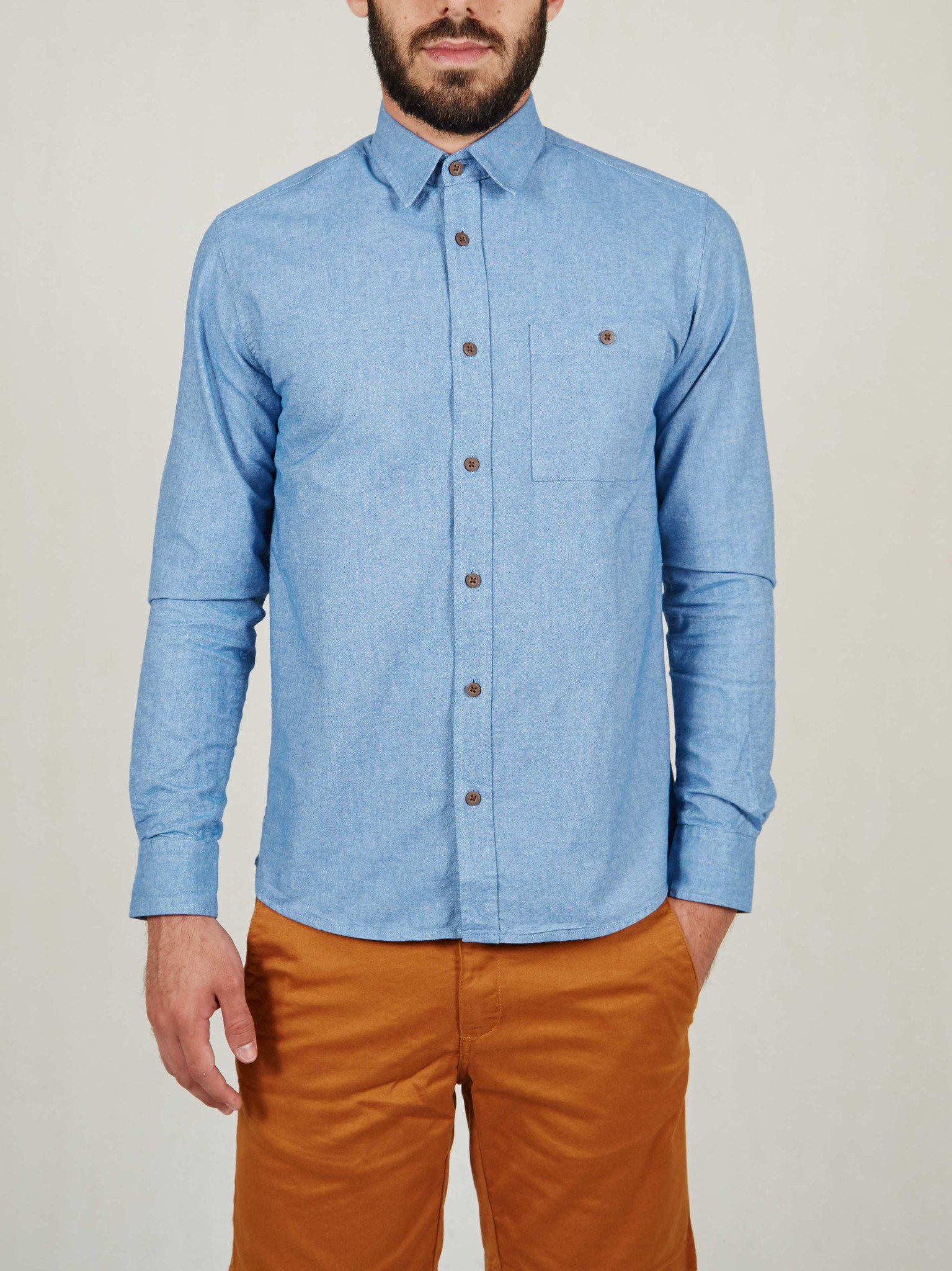 Foto do Camisa Cotton Project Oxford Azul