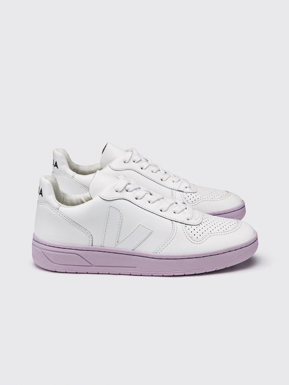 Foto do Tenis Vert V10 COURO EXTRA WHITE LILAS SOLE