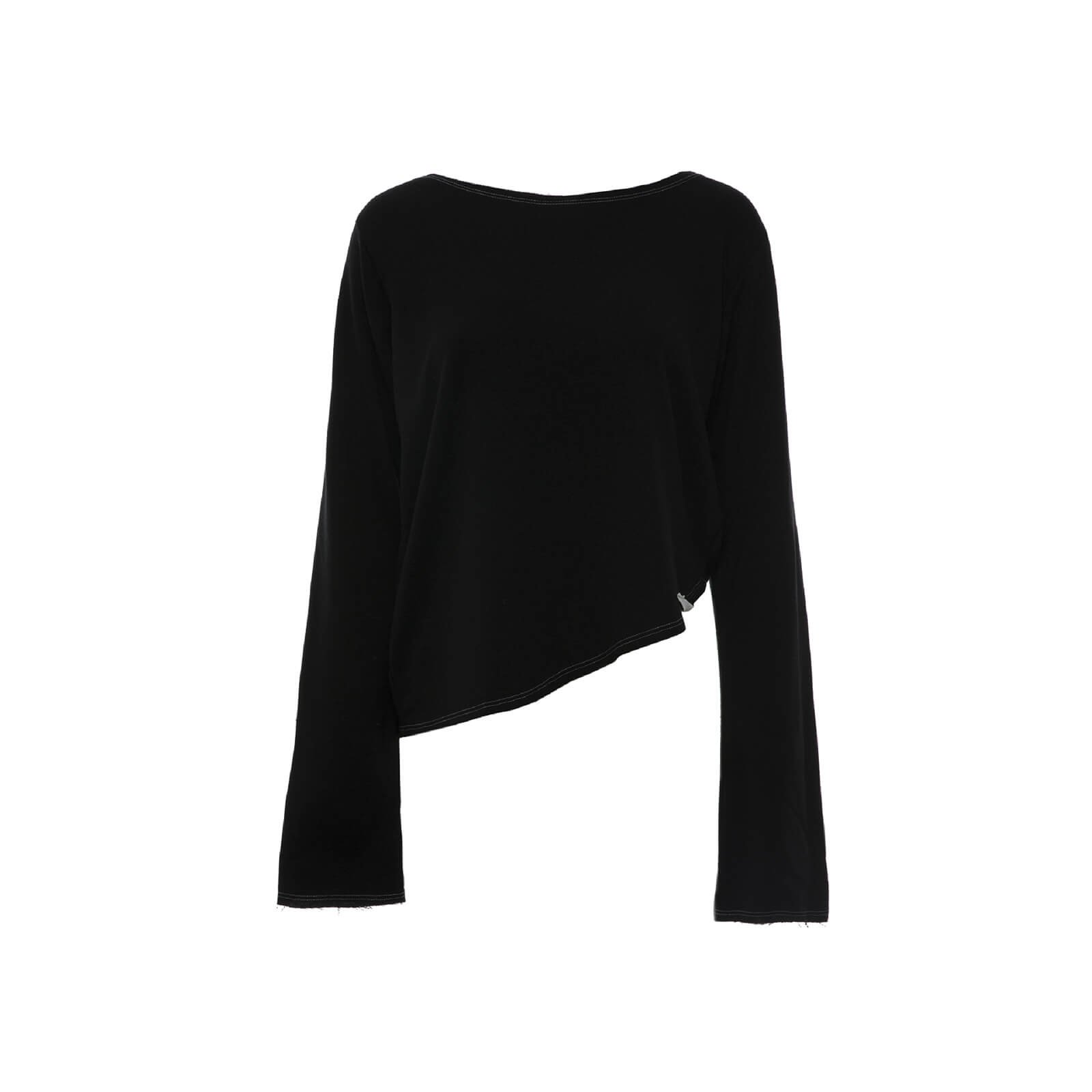 CROPPED DIAGONAL BLACK