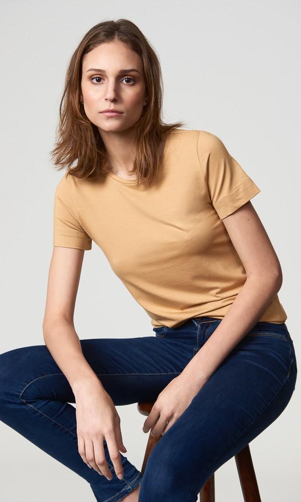 T-Shirt Gola Careca Modal - Areia