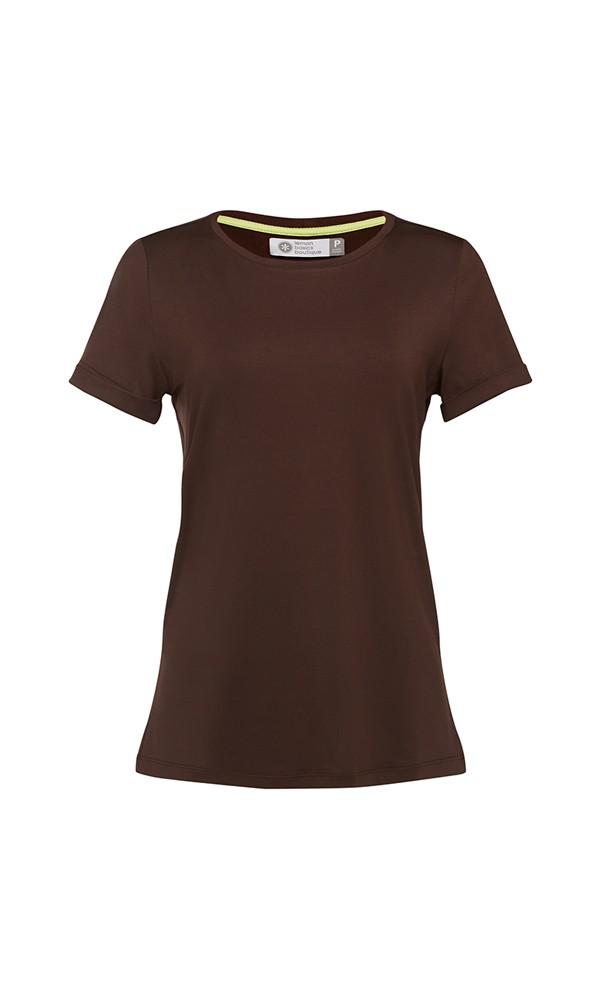 T-Shirt Gola Careca - Modal - Rosa Marrakesh