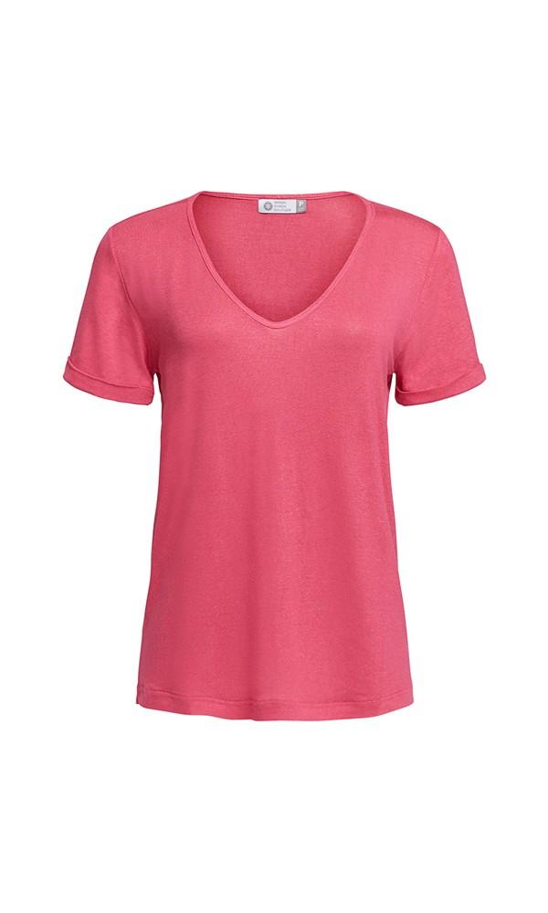T-Shirt Gola V Linho - Pink Lemon