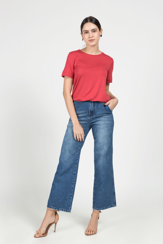 T-Shirt Gola Careca Modal -  Vermelha