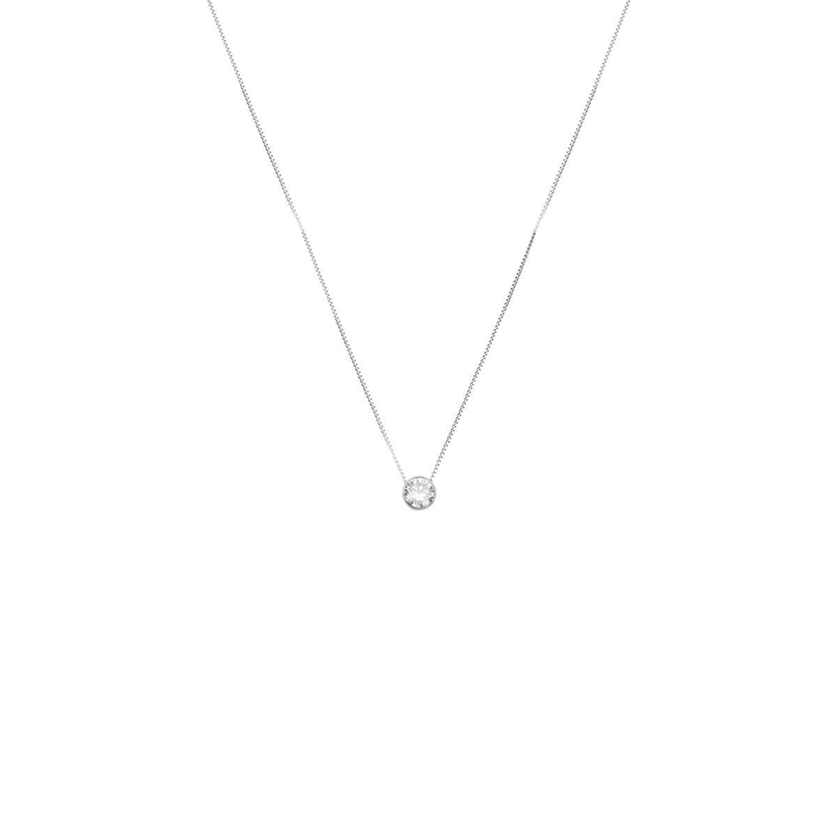 d0604976359df Colar Lux com Pingente Ponto de Luz Prata 925 - New Bijoux