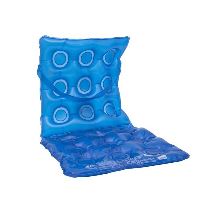 9fe61a3d5 Almofada de Gel Anti Escaras Quadrada com Encosto Inflável Flexi Confort AG  Azul