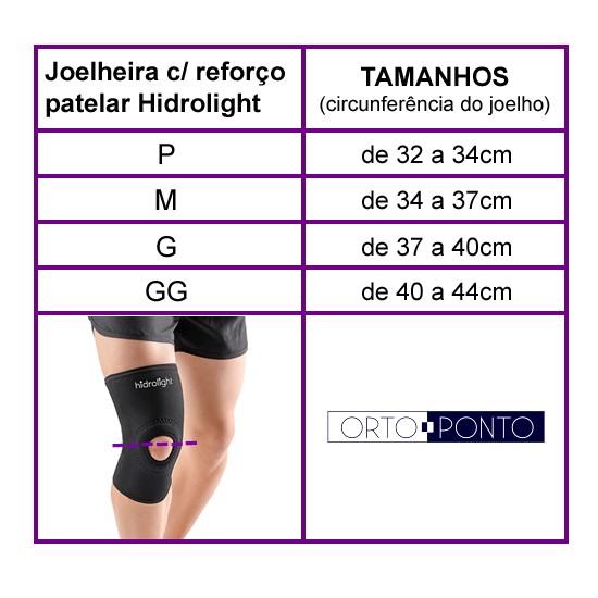 Joelheira Ortopédica com Reforço Patelar Longa Hidrolight em ... 2f672365655dd