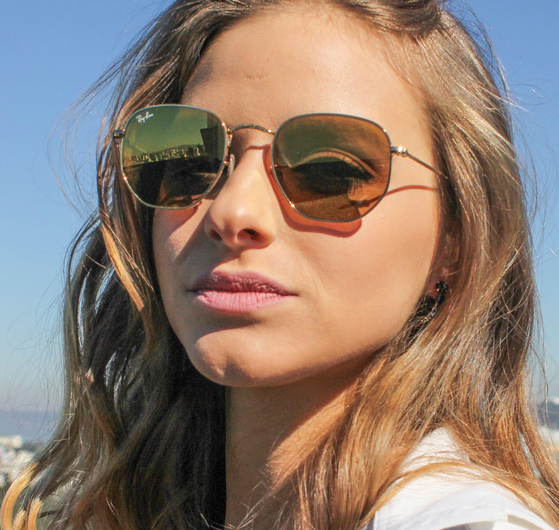 fddc8b4517976 óculos Ray Ban Feminino Hexagonal   Les Baux-de-Provence