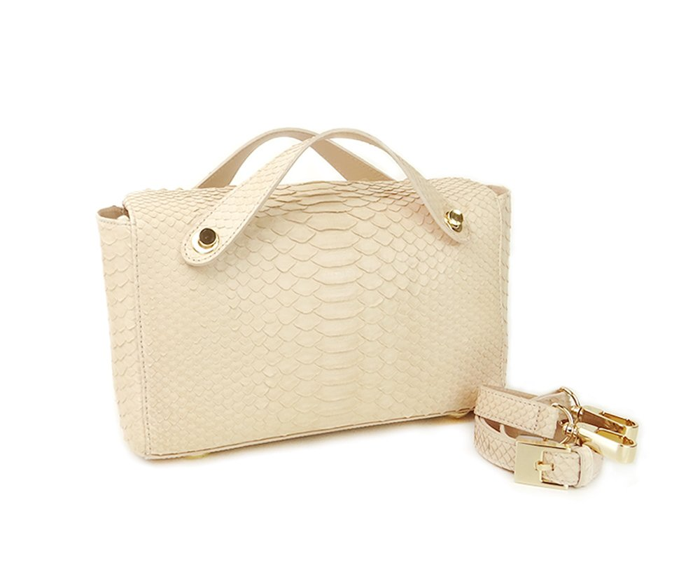 BOLSA PITTY PYTHON BLUSH