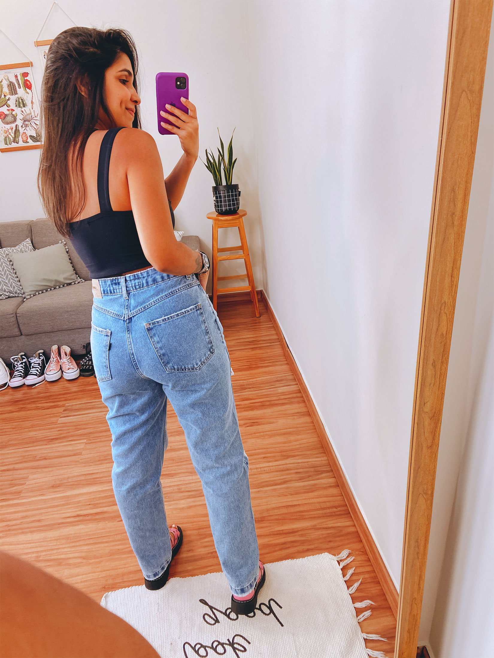 CALÇA JEANS MOM BATTLE