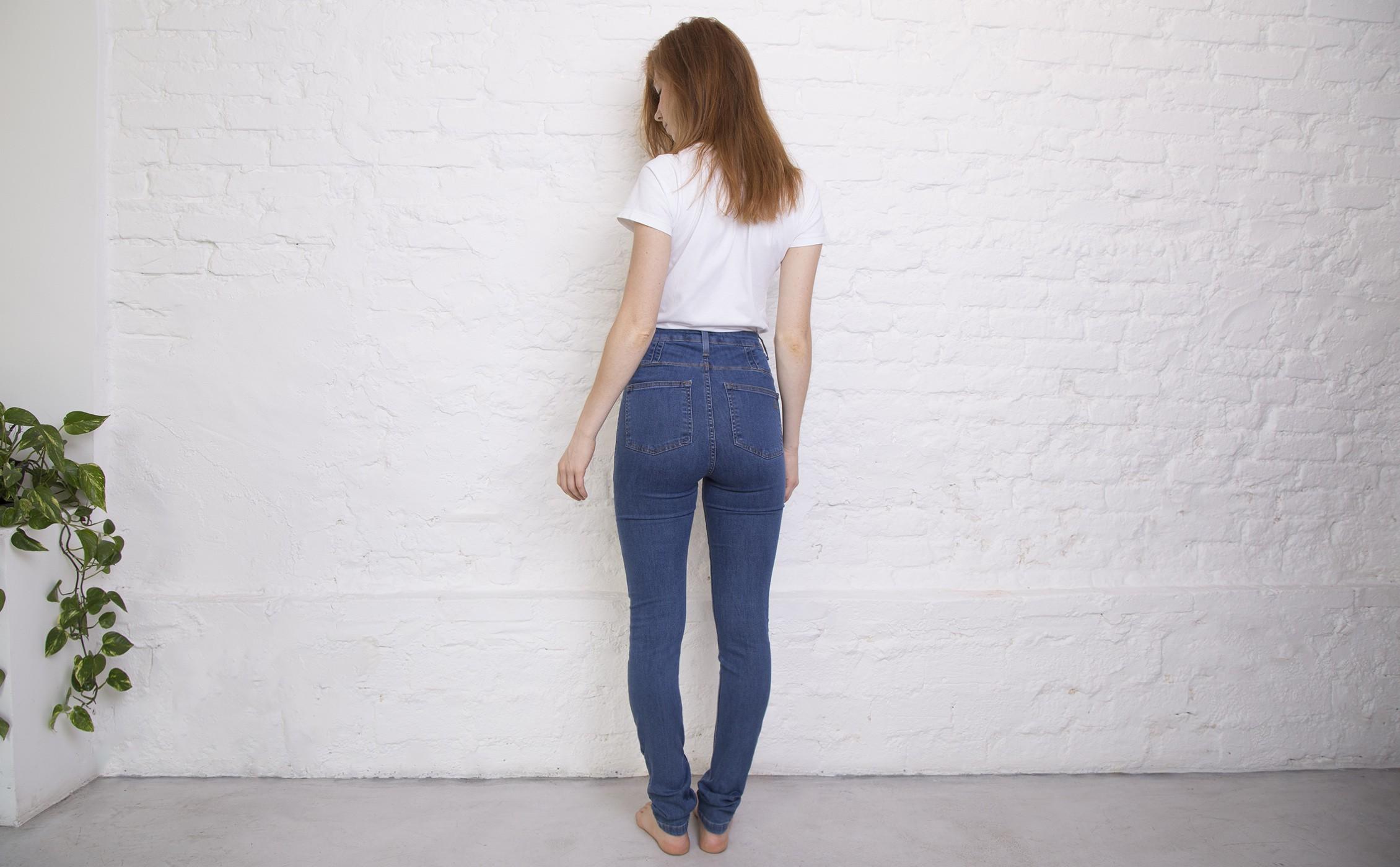 068090f9d2 Jeans Skinny Cintura Alta